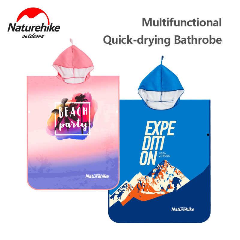 Naturehike Microfibra Asciugamano Nuoto Unisex Protezione Solare Ad asciugatura rapida Umidità Telo Mare Ultralight Viaggio Mantello Da Surf Poncho