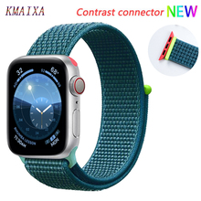 Nylon Strap for apple watch 4 band 44mm 40mm correa apple watch 5 38 mm iwatch band 42mm Colorful connector belt watchband 4 3 2 цена и фото