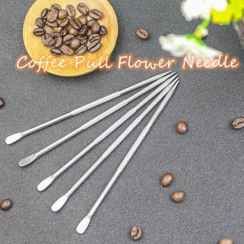 1Pc Coffee Pull Flower Needle Cappuccino Latte Coffee Decorative Art Pen Stainless Steel Carved Stick Cafe Decorating Mixer Tool image