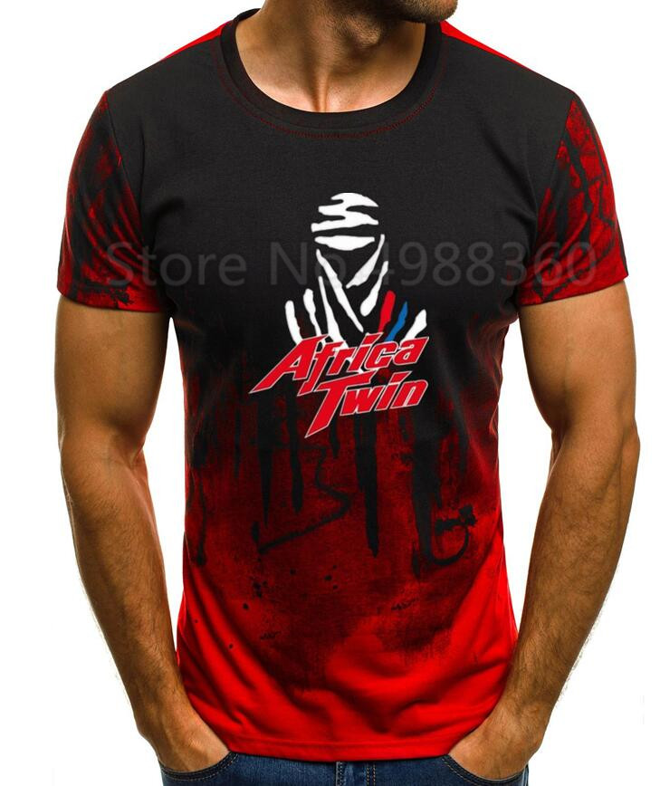 2019 Newest Letter Print Cotton Hon Africatwin Africa Twin CRF1000L CRF 1000L Motorcycle CBR Motorrad T-shirt