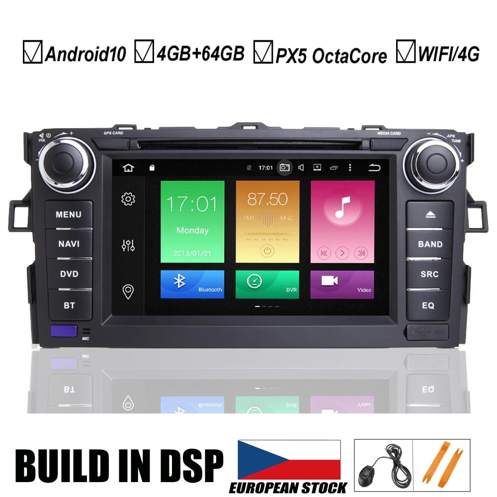 7 IPS Car Android 10.0 DVD GPS Player For Toyota AURIS 2006 2007 2008 2009 2010 2011 Vehicle Navigation Raido BT Wifi/4G MAP DSP(Hong Kong,China)