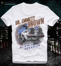 New Mens T-Shirt Men Summer Casual  Back To Future Zukunft Doc Brown Mc Fly Retro Vintage Cult Movie Design T Shirt