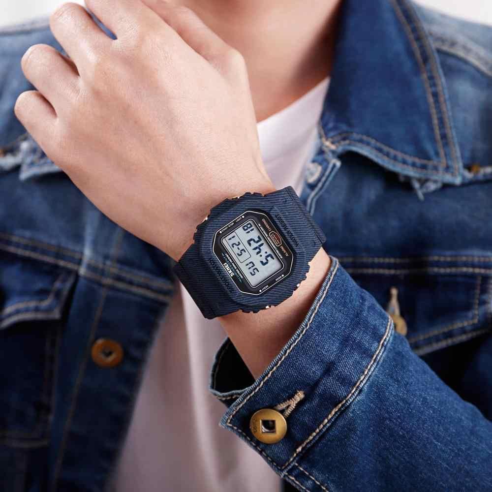 Skmei Japanse Beweging Digitale Horloges Militaire Cowboy Chrono Kalender Sport Horloge 5Bar Waterdichte Mannelijke Elektronische Klok