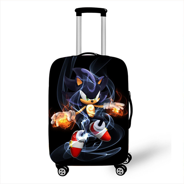 18-32 Inch Cartoon Hedgehogs Mario Elastic Luggage Suitcase Protective Cover Protect Dust Bag Case Cartoon Travel Cover