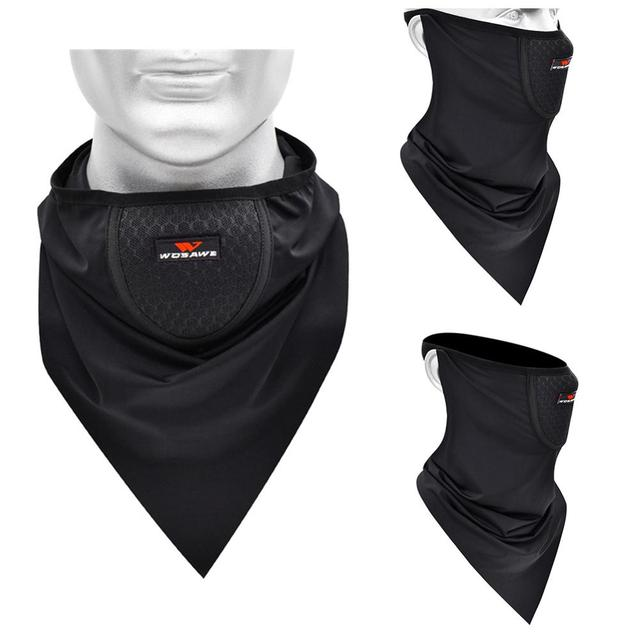 Top Motorcycle Mountain Bike Riding Face Towel Male Ice Silk Mask Sunscreen Face Towel Triangle Scarf Head Scarf Riding Scarf 2
