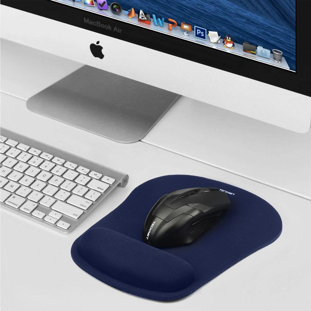 Image 5 - TeckNet Classic Office Mouse Pad Gaming Mouse Mat Pad Ergonomic Mousepad Build in Soft Sponge with Gel Wrist Rest Mice Pad-in Mouse Pads from Computer & Office