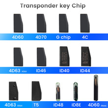 KEYYOU авто транспондер дистанционный Автомобильный ключ пустой чип 4D ID40 ID44 ID46 ID63 40 бит/80 бит ID48 ID60 стекло ID70 ID8E T5 4C G чип