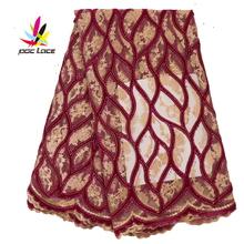 цена на Flower Embroidery Tulle Fabric Stretch Velvet Tulle Dress Women Diamond Beaded Bridal Fabric Embroidered Velvet AMY2763B