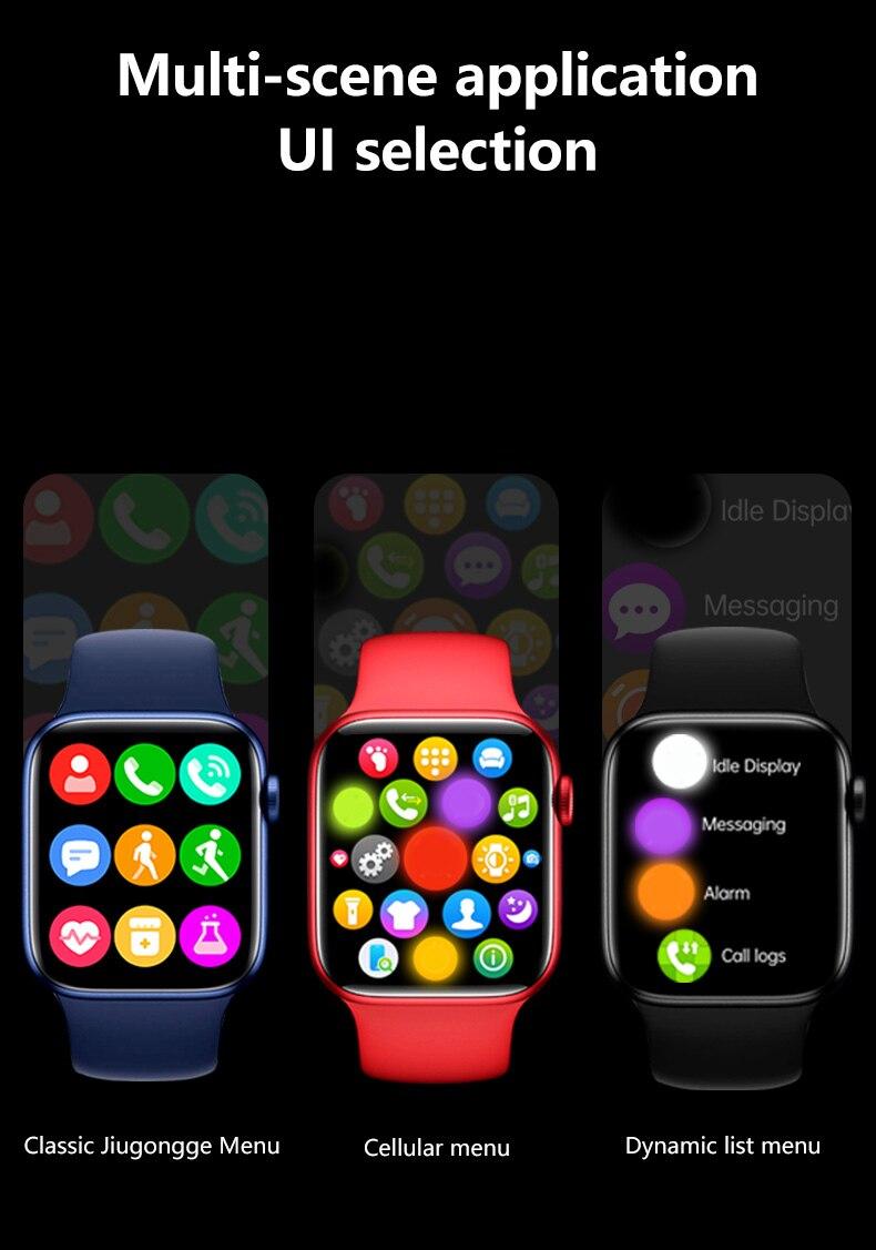 "Hf6fe00ed7e9c46a980036a942e4c20a3e 2021 IWO 13 MAX Smart Watch T500+ plus 1.75""HD Bluetooth Calls Custom Wallpaper Heart Rate Monitor Sport Smartwatch PK W46 W26"