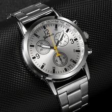 Stainless Steel Men's Watch Delicate Design Three Dial Men Clock relogio masculi