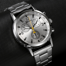 Stainless Steel Men's Watch Delicate Design Three Dial