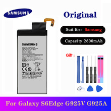 Original SAMSUNG Replacement Battery EB-BG925ABE For Samsung GALAXY S6 Edge G9250 G925FQ G925F G925S S6 Edge G925V G925A 2600mAh стоимость