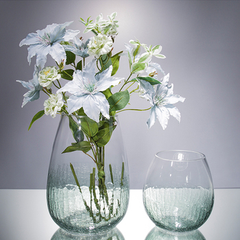 Modern Glass Vase Ice cracked Large caliber Vases Pot Flower hydroponic Containers Tabletop Handicrafts Home Wedding  Decorative