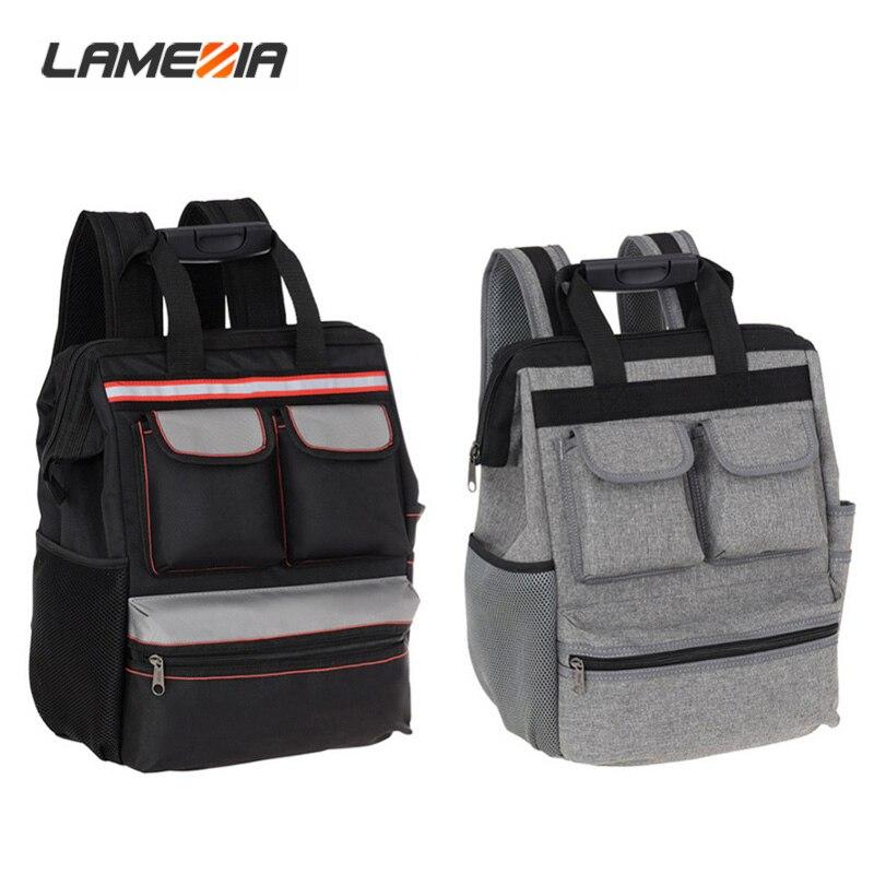 LAMEZIA Shoulder Travel Tool Bag Backpack Elevator Work Repair Belt Hardware Kit Organizer Canvas Oxford Cloth  Package