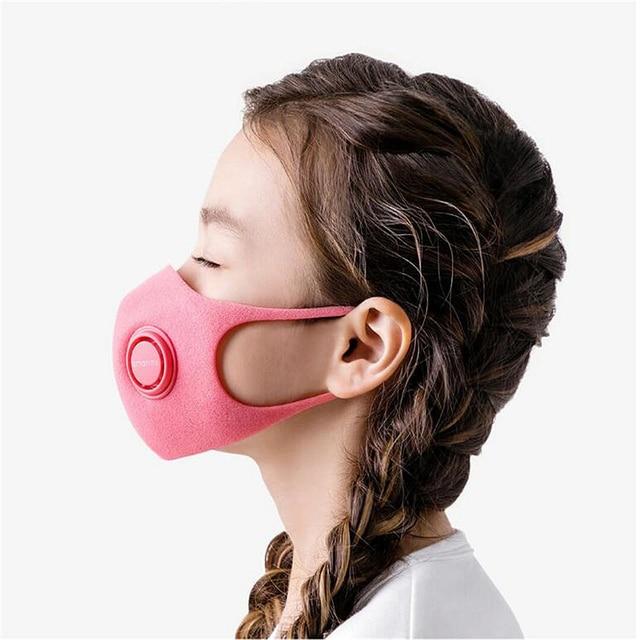 In stock SmartMi Children's mask PM2.5 Haze Mask Anti-haze Face Mask Adjustable Ear Hanging 3D Design Comfortable Light for kids 3