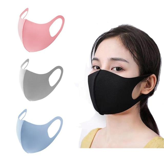 Unisex Dust Mask Breathable Sponge Face Mask Reusable Anti Pollution Face Shield Wind Proof Mouth Cover Proof Flu Face Masks 4