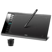 Original parblo a610 v2 gráficos digitais desenho tablet bateria-livre caneta 8192 caneta pressão 10x6