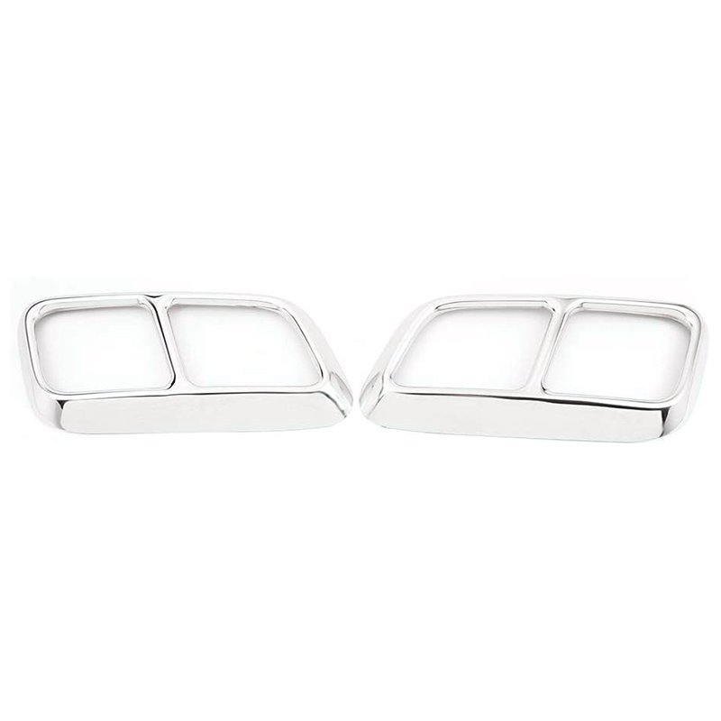 2 Pcs Exhaust Pipe Cover Trim for Range Rover Sport 2018 2019 Car Accessories|Exhaust Manifolds| |  - title=