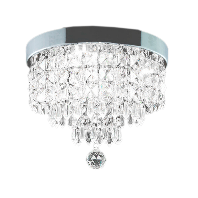 Modern Crystal Led Ceiling Light Fixture For Indoor Lamp Surface Mounting Ceiling Lamp For Bedroom Dining Room 200Mm White