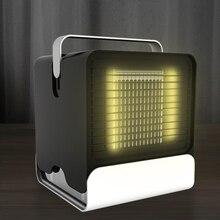 Портативный кондиционер портативный мини-охладитель воздуха светодиодный светильник увлажнитель воздуха Очищает Вентилятор охлаждения воздуха для дома и офиса