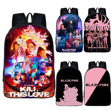 Kpop BLACKPINK LISA JISOO Kill This Love Backpack Women Men Large Laptop Backpack Hip Hop Travel Rucksack Streetwear School Bags(China)