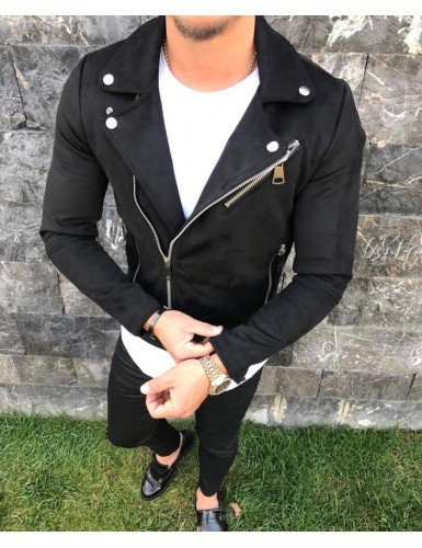 MEN'S Leather Coat Korean-style Jacket Fold-down Collar Short Casual Men'S Wear Trend