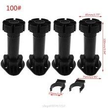 Leg Kitchen Cupboard M for Bathroom 4pcs Foot-Cabinet Adjustable-Height D15 20