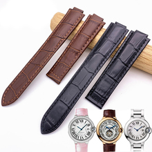 цены Watch accessories leather strap men for Cartier blue balloon tank Santos strap women outdoor sports waterproof watch band