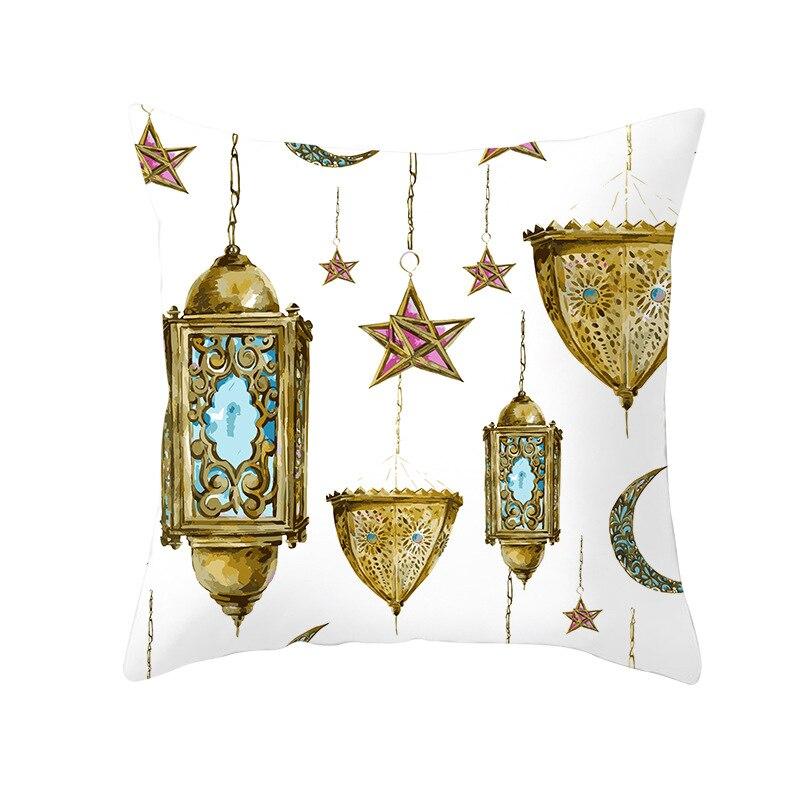 Image 3 - イードムバラクラマダン装飾 45 × 45 センチメートルクッションカバーラマダンカリーム EID  装飾ギフトイスラム教徒のイベントパーティーの装飾用品    グループ上の ホーム