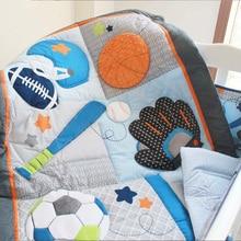 Мультяшный комплект детского постельного белья, хлопковые одеяла для кроватки, кровать, юбка для детской кроватки, одеяло с принтом 84 см* 107 см, постельное белье для новорожденных