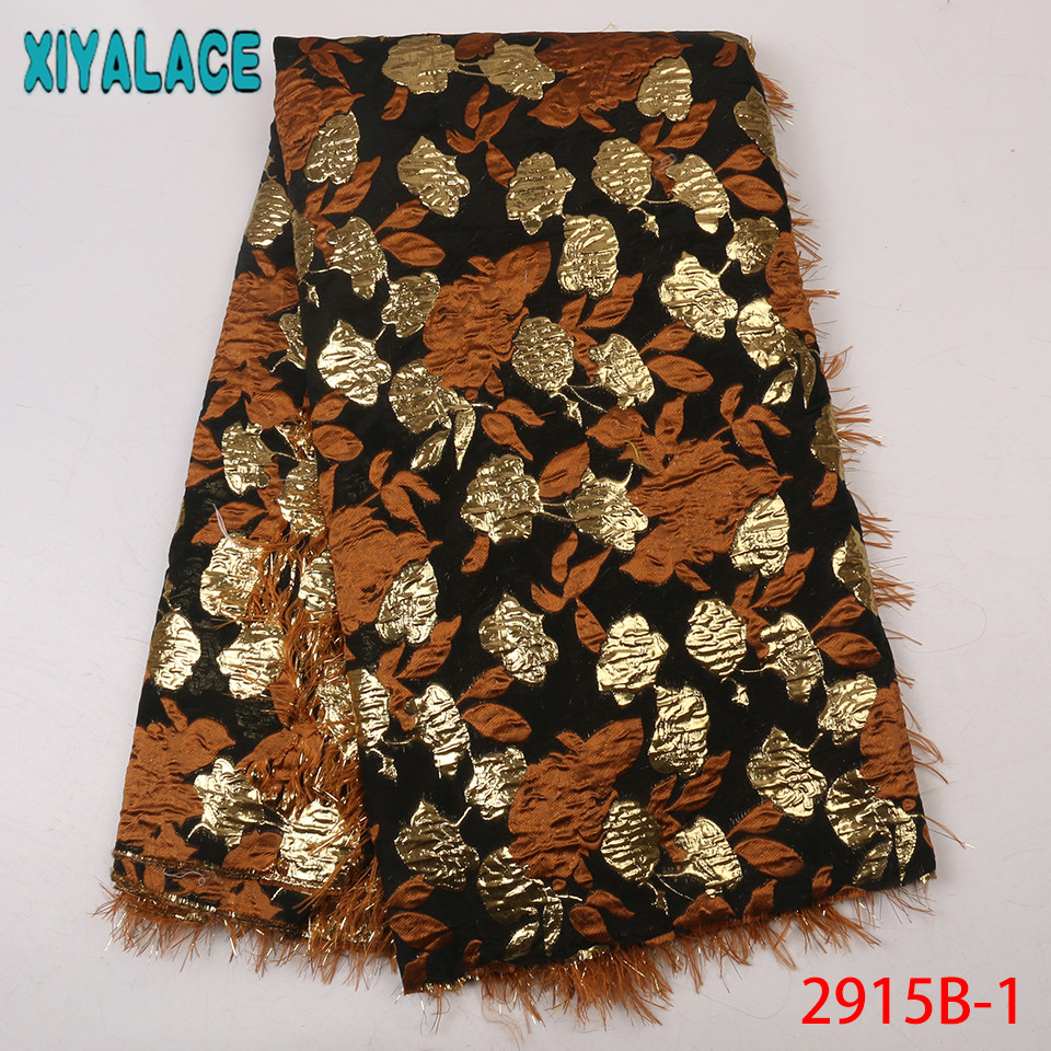 Hot Sale French Lace Latest Nigerian Lace Fabric 2019 High Quality Brocade Fabric Lace With Feather KS2915B