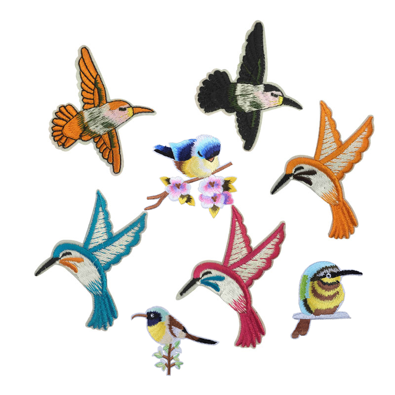Pretty Bird Planet Things Iron On Patches For Clothing Embroidery Sewing Badge Stripe On Clothes Cute DIY Sequin Applique F(China)