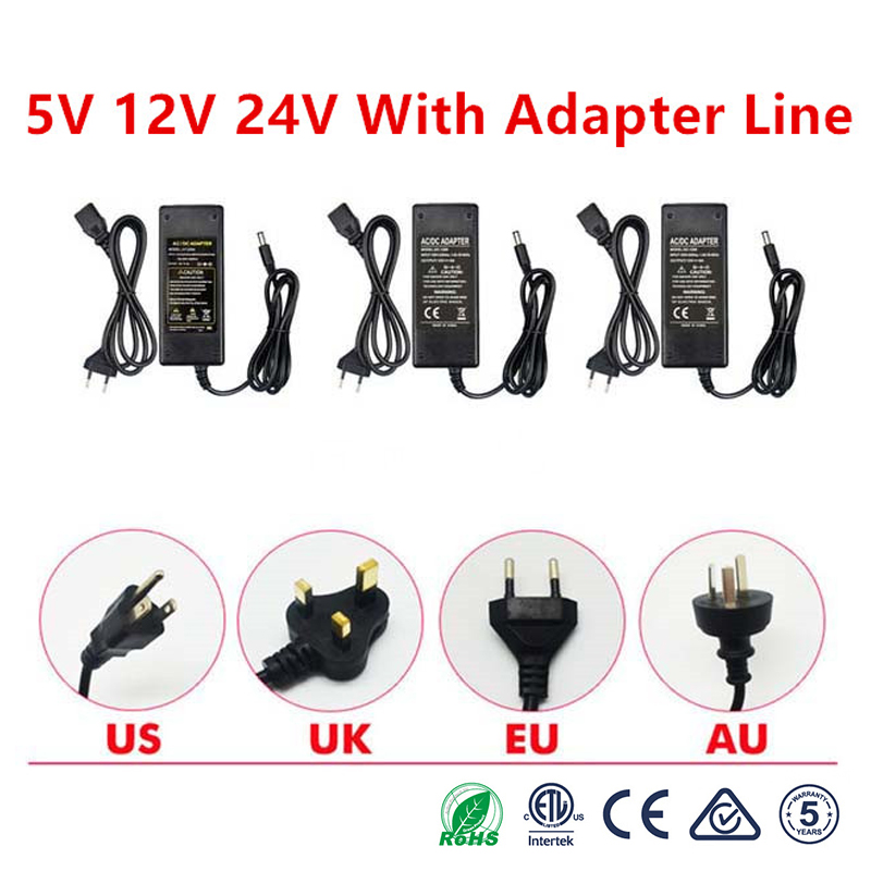 Power <font><b>Adapter</b></font> Supply AC to DC 5V 12V 24V 1A 2A 3A 5A 6A 8A Lighting Transformer For Led Strip 5 12 <font><b>24</b></font> <font><b>V</b></font> Power Supply LED Strip image