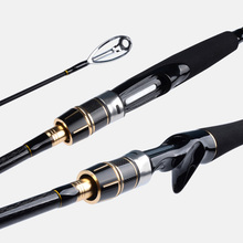 Seekbass 2.1M 2.4M Fishing Rod 2 Tips  M&MH Power 2 Sections Carbon Rod Spinning Casting Rod Fishing Tackle