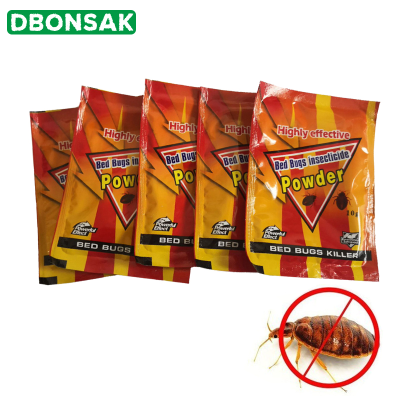 5pcs Bed Bugs Insecticide Killing Bed Bugs Fleas Lice Bait Drugs High Effective Bed Bug Killer Powder Pest Control Bedbug Drug