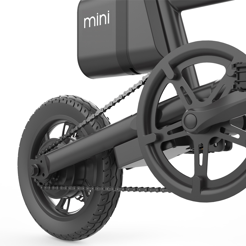 portable mini adult folding ebike 12 inch pedal assited electric bicycle foldable 6