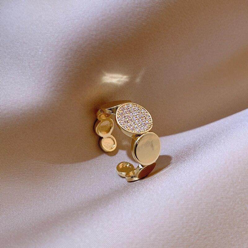 2020 корейский новый модный простой темпераментный кольцо универсальное Открытое кольцо элегантное женское банкетное ювелирное изделие