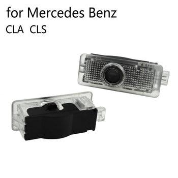 2 шт. светодиодные двери автомобиля Добро пожаловать Свет для Mercedes Benz CLA CLS c218 w218 a207 c207 c117 AMG Логотип лазерный проектор Ghost Shadow Lights