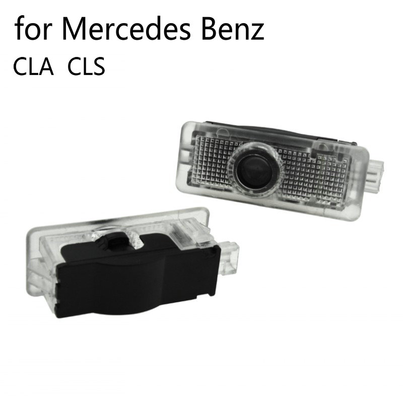 2pcs LED Car Door Welcome Light For Mercedes Benz CLA CLS C218 W218 A207 C207 C117 AMG Logo Laser Projector Ghost Shadow Lights