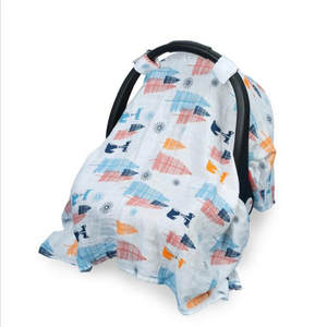 Bug-Net Canopy Carseat-Cover Protect Sun-Shade Girls Muslin Baby Infant Breathable Boys