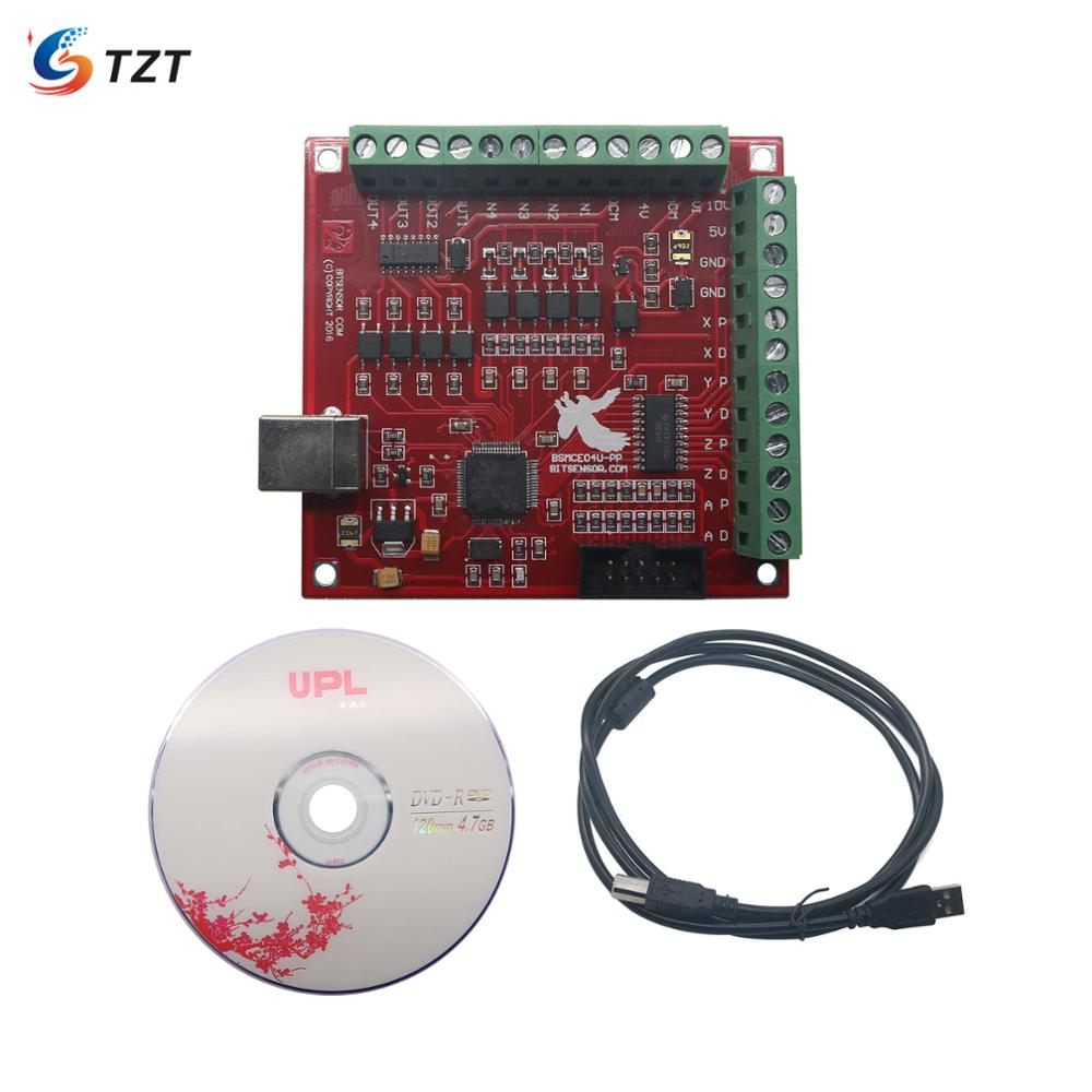 TZT CNC USB MACH3 100Khz Breakout Board 4 Axis Interface Driver Motion Controller image