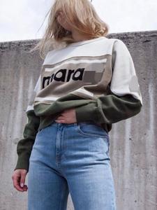 woman hoodies runway high quality long sleeve cotton sweatshirts female