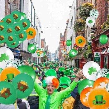 10pcs Balloons Set St. Patrick's Day Decorative Clover Saint Balloon Patrick Wedding Home Party Decoration Table Latex 1