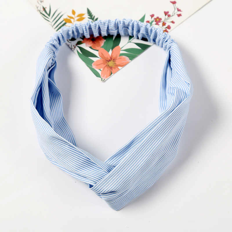 Fashion Stripe Knot Headband Turban Elastic Hair bands Headwrap Hair Accessories for Women Girls Hairband Bandanas Accessories
