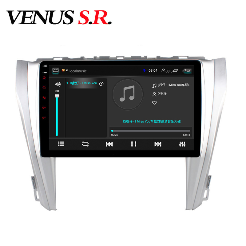 VenusSR Android 9.1 Car DVD Player GPS Navigation Multimedia For Toyota Camry 2015-2017 radio car stereo BT WIFI