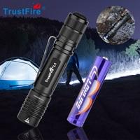 TrustFire L1-Mini linterna Led AAA, luz Flash pequeña de 385 lúmenes, batería recargable AAA/10440, táctica EDC