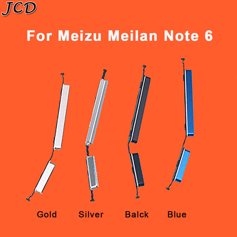 JCD 1set Side Button Power Key Replacement Spare Parts For Meizu Meilan  NOTE6 For Meizu M6 Note