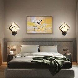 Modern LED Wall Lamp For Bedroom Bedside  Creative Black Sconce Light Room Corridor Aisle Nordic Interior Lighting Fixture