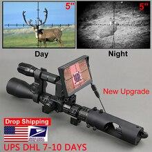 ナイトビジョンライフル銃の狩猟スコープ視力戦術850nm赤外線led ir防水ナイトビジョン狩猟カメラ