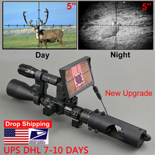 Night Vision Riflescope Hunting Scopes Optics Sight Tactical 850nm Infrared LED IR Waterproof Night Vision Hunting Camera